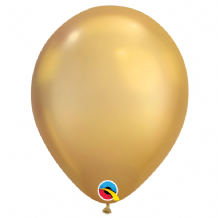 Chrome Balloons - Gold Chrome Balloons (100pcs) 7 Inch